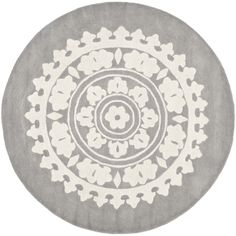 Safavieh Handmade Soho Light Grey/ Ivory Wool Rug (10' Round) - Overstock™ Shopping - Great Deals on Safavieh Round/Oval/Square