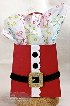 Santa Gift Bag by Shannon White