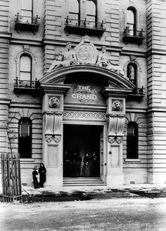 1888 Windsor Hotel, Bourke St (built 1884 originally named 'The Grand'. In 1920 with new owners it was renamed 'The Windsor Hotel) Melbourne Girl, Melbourne Victoria, Victoria Australia, Melbourne Australia, Australia Photos, Brisbane, Windsor Hotel, Vintage Hotels, Best Hotels