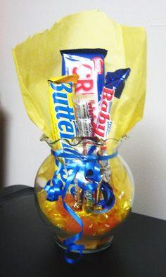 Small Nestle Candy Bar Bouquet by ClockvilleCakesEtc on Etsy, $15.99