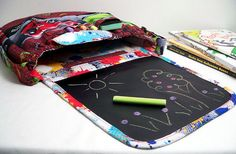 Hot Wheels Chalkboard Bag