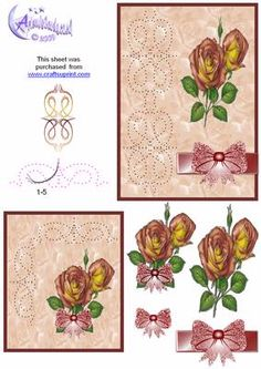Rose und Bogen-Karten-Front