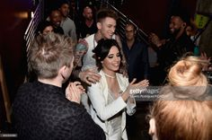 Singer Camila Cabello (L) and Rapper Machine Gun Kelly backstage at Nickelodeon's 2017 Kids' Choice Awards at USC Galen Center on March 11, 2017 in Los Angeles, California.