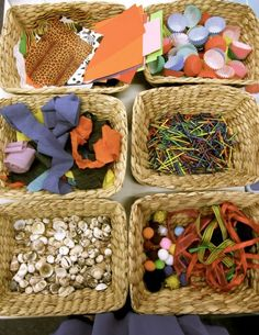 Loose parts/ art materials- basket storage at Scotch College via Walker Learning Approach: Personalised Learning ≈≈