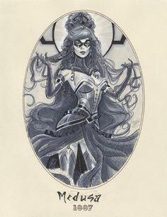 Medusa 1887 by Michael Dooney Comic Book Artists, Comic Book Characters, Comic Artist, Comic Character, Comic Books Art, Marvel Fan Art, Marvel Dc Comics, Medusa Marvel, Marvel Heroines