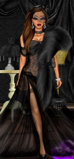 Today's Doll of the Day goes to. We love this which would look down the A very well Well done! 3d Fashion, Diva Fashion, Fashion Dolls, Fashion Show, Fashion Design, Express Fashion, Fashion Sketches, Fashion Illustrations, Black Barbie