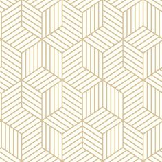 Wrought Studio Rumsey Striped Hexagon L x W Geometric Peel and Stick Wallpaper Roll Color: White/Gold Vinyl Wallpaper, Brick Wallpaper Roll, Embossed Wallpaper, Wallpaper Panels, Adhesive Wallpaper, Geometric Wallpaper, Peel And Stick Wallpaper, Hexagon Wallpaper, Metallic Wallpaper
