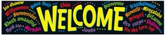 Banner Welcome Multilingual Classroom Border