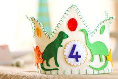 Dino party birthday hat
