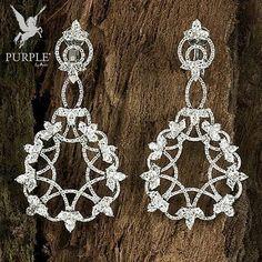Check these elegantly and unique Earrings set with diamonds #purplebyanki #diamonds #luxury #loveit #jewelry #jewelrygram #jewelrydesigner #love #jewelrydesign #finejewelry #luxurylifestyle #instagood #follow #instadaily #lovely #me #beautiful #loveofmylife #dubai #dubaifashion #dubailife #mydubai #Earrings