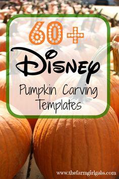 Over 60 Disney Pumpkin Carving Templates to create your Disney pumpkin masterpiece this Halloween. #DisneySide