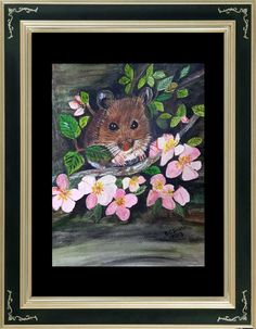 Wood Mouse, water colour