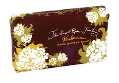 Verbena and shea butter soap from The Soap & Paper Factory.