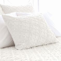 Pine Cone Hill Candlewick Dove White Pillow Sham @Sarah Nasafi Grayce