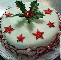 Βασιλόπιτα με ζαχαρόπαστα!!! Greek Sweets, Christmas Cake Decorations, Greek Cooking, Greek Recipes, Dear Santa, Cake Designs, Christmas Time, Food Processor Recipes, Cake Recipes