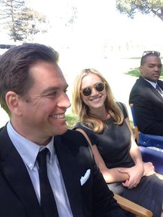 """Weatherly and Wickersham! Making the NCIS."" ~Twitter / M_Weatherly"