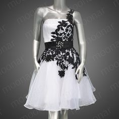 Stock White Short Prom Gown Bridesmaid Evening Party Dress Plus Size 812/14/18 | eBay