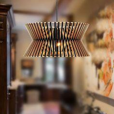 GaGa Lamp Design YAU MA TEI Deckenleuchte Holz Schwarz 16W 2D 4 PIN gAGaTop