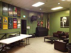 Green room backstage