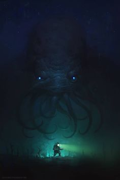 Looks like someone found a Cthulhu monster... Urban fantasy / horror inspiration Expedition no 47 by Alex Konstad