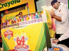 Crayola 64-count Box by Charm City Cakes - Cake created by Duff and the crew for…