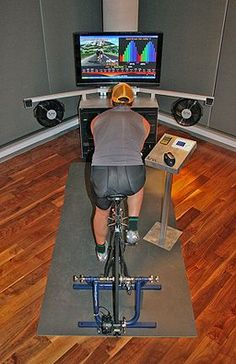 Discover recipes, home ideas, style inspiration and other ideas to try. Basement Workout Room, Home Gym Basement, Gym Room, At Home Gym, Zwift Cycling, Indoor Cycling, Cycle Trainer, Indoor Bike Trainer, Bike Room