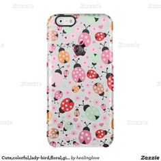 Cute,colorful,lady-bird,floral,girly,for kids,fun, uncommon clearly™ deflector iPhone 6 case