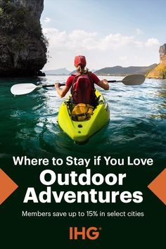 Make a reservation at an IHG hotel in San Francisco, Denver, Vancouver, Veracruz, or one of the many other locations knowns for standout, outdoor adventures. Bike, hike, and explore by day, then stay in style and enjoy the amenities at your hotel.
