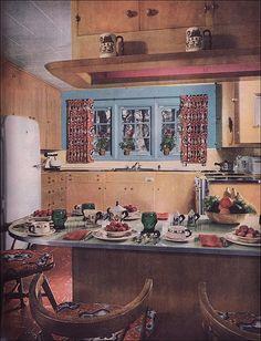 1951 Modern Colonial Kitchen
