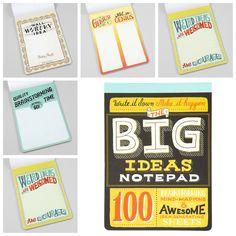 The big idea Notepad nu verkrijgbaar bij What's in a Bag! www.whatsinabag.nl
