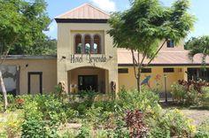 hotel leyenda entrance in Playa Carrillo, Costa Rica
