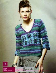 Letras e Artes da Lalá: Blusas de crochê (fotos encontradas no google, sem receitas)