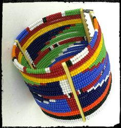 Beaded Maasai bracelet by Sipdada on Etsy