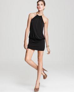 Laundry by Shelli Segal Jersey Blouson #Halter #Dress  ORIG $195.00 at #Bloomingdale's  SALE $117.00