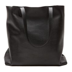 Leather Tote (€130) ❤ liked on Polyvore featuring bags, handbags, tote bags, accessories, purses, black, bags/purses, leather tote, leather tote purse and hand bags