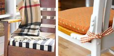 Step by step tutorial to make a fitted, elastic, bench seat cushion cover for indoors or out. Window Seat Cushions, Patio Cushions, Window Seats, How To Make Pillows, Diy Pillows, Decorative Pillows, Diy Cushion Covers, Pillow Covers, Box Cushion