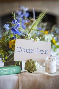 Courier - Cada mesa con el nombre de una tipografia, excelente!