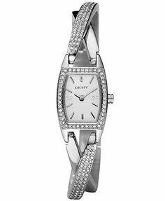 DKNY Watch, Women's Crystal Twist-Band NY4633