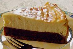 Käsekuchen mit Brownie Boden (Rezept mit Bild) von Pumpkin-Pie   Chefkoch.de