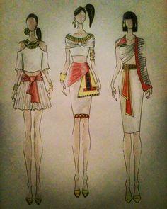 """#fashion #fashiondesigner #design #designer #illustration #fashionillustration #moda #modafeminina #inspiration #inspiredbyegypt #inspiredbyancient…"""