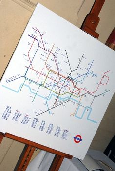 fun idea using underground map for table plan. could be used with any kind of map or plan. Wedding Stationery, Wedding Invitations, New York Theme, Underground Map, Welcome To Our Wedding, Wedding News, Seating Charts, Table Plans, Party Planning