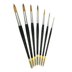 Richeson Series 9000 Synthetic Watercolor Round Brushes will hold plenty of watercolor, gouache, casein or acrylic, and release paint smoothly, giving the painter perfect control. Its historic fine snappy point and its ability to carry great volumes of color have kept it an industry leader.