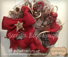 Western wreath by Jennifer Boyd Designs.    Find me on Facebook and Etsy!  www.facebook.com/... JenniferBoydDesig...