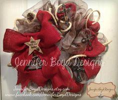 Western wreath by Jennifer Boyd Designs.    Find me on Facebook and Etsy!  www.facebook.com/... JenniferBoydDesig...