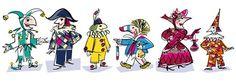 Basler Fasnacht - von A-Z - fasch Basel, Lent, Donald Duck, Switzerland, Illustration, Disney Characters, Fictional Characters, German, Poster