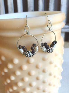 Seashell Earrings Mini Seashell Hoop Earrings by LaniMakana