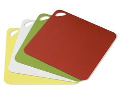 Any fairly inexpensive, colored, cutting mat set. I use these for a while and then toss them out.