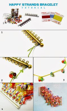 shiny little things: Multi-strand knotting silk bracelet how-to...a bright project for a dark day!