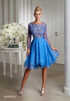 Cocktail dress by Emmi Mariage Exclusive. Collection 2016.  Marina z jedwabiu.