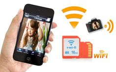 16GB WiFi SD Card - Class 10, Transfer Video and Pictures Directly To Phones and Laptops